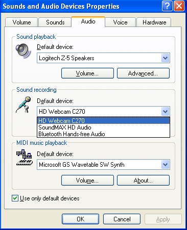 Logitech 960-000694 hd webcam c270/720p widescreen video calling.