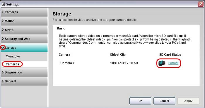 Setting Alert 700e/750e outdoor cameras to factory defaults