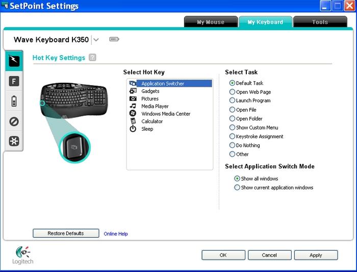 Logitech SetPoint Special Bluetooth Driver