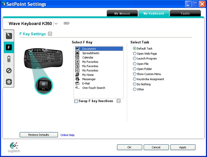 Logitech M Software & Driver Download Manual SetPoint