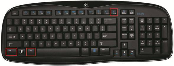 My EX 100 Mouse Works But Keyboard Does Not