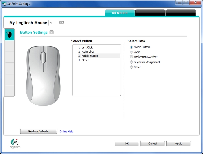 Customizing mouse buttons in SetPoint – Logitech Support + Download