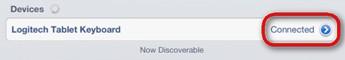 iOS 6 鍵盤已連線