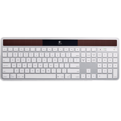 Wireless Solar Keyboard K750 for Mac, silver, top view