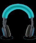 Adjustable headband and ear cups
