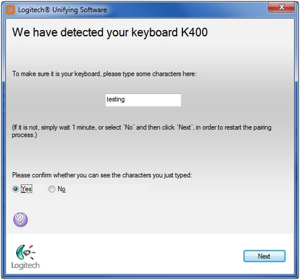 K400 keyboard detected