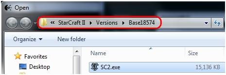 Gaming software - select exe
