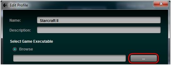 Select game executable