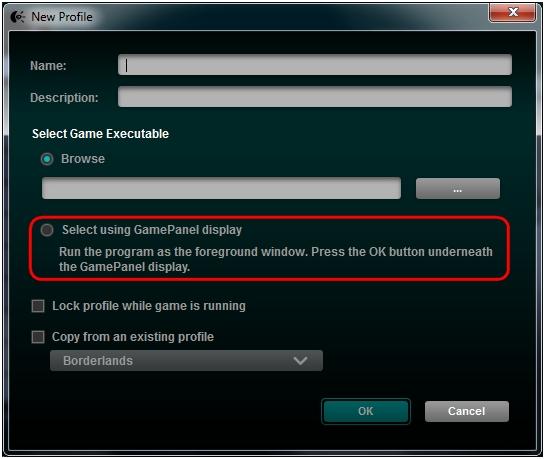 Select exe using GamePanel display