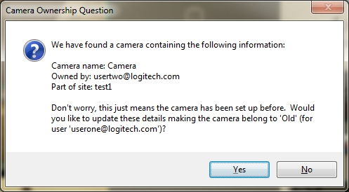Updated preowned camera notice dialog box