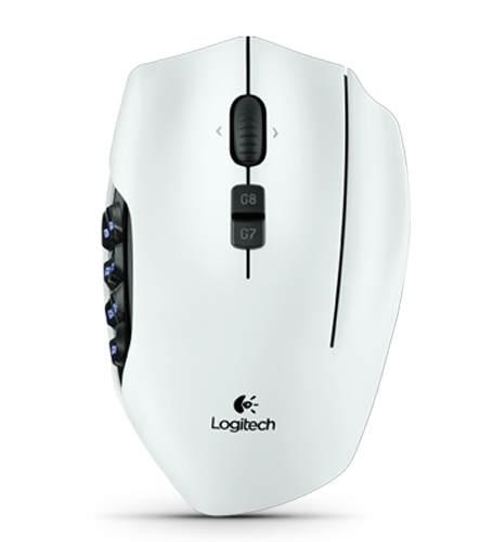 Logitech G600 MMO Gaming Mouse (White)