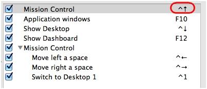 LCC Acción de teclado Mission Control