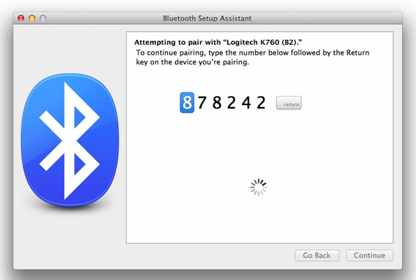 K760 Pairing with Mac using Bluetooth Setup Assistant