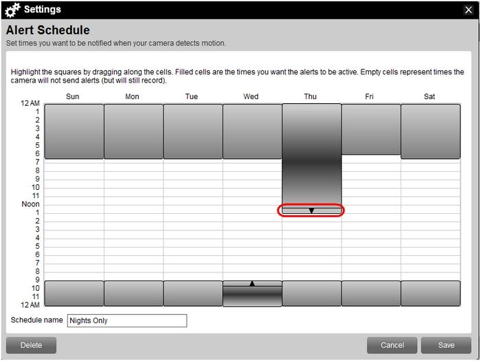 Adjust schedule time in Web Commander
