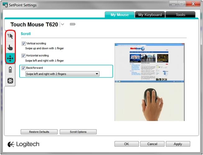 Logitech M-R0030 Touch Mouse T620 Driver PC