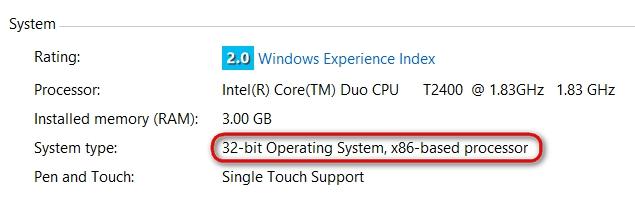 Windows 8 32-Bit-System