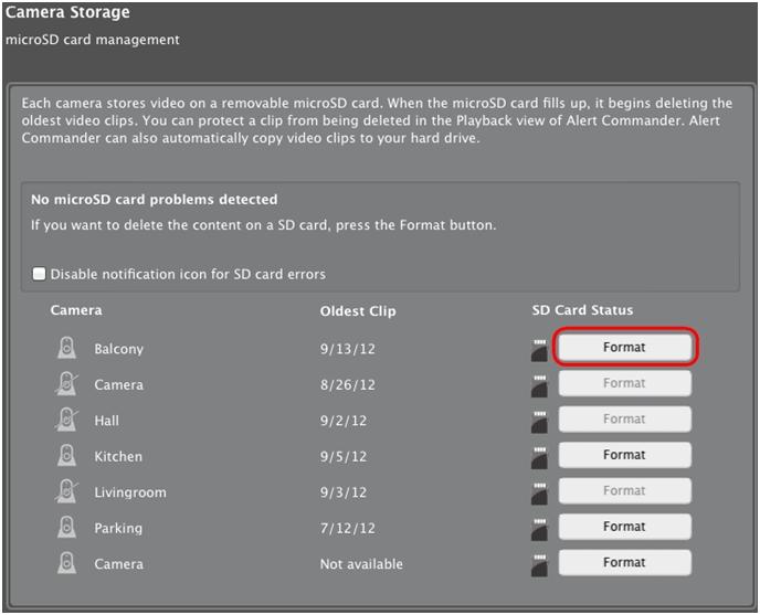 Sd Karte Formatieren Mac.überprüfen Der Sd Karte Der Kamera Mit Alert Commander Für Mac