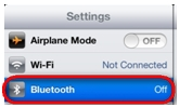 Bluetooth Tap ON