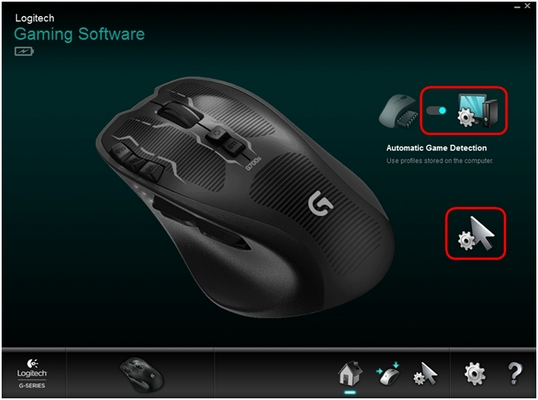 G700s manage automatic detection mode settings