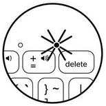 Témoin d'alimentation/niveau de charge de l'étui clavier Keyboard Folio mini