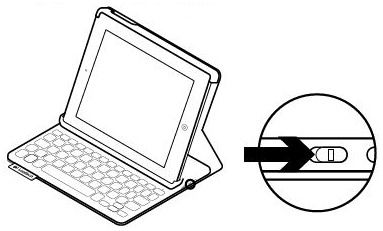 Keyboard Folio Mini power button