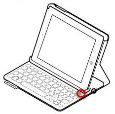 Keyboard Folio Mini power status light