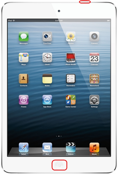 Reiniciar el iPad mini
