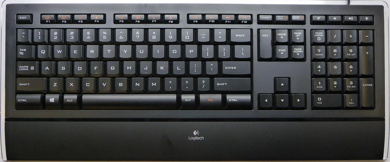 Logitech Illuminated Keyboard K740 Top View ...