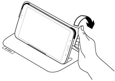 Bend folio corner to remove tablet