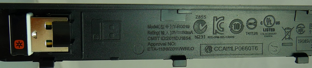 K410 Keyboard Top Bottom Battery Compartment Cover And Receiver Connection Type Wireless