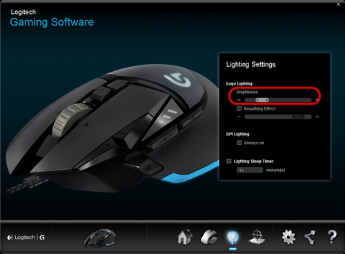 G502 Illumination Settings