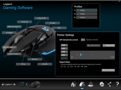 Configure G502 Gaming Mouse On Board Memory