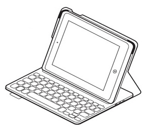 Ultrathin Keyboard Folio Typing Position