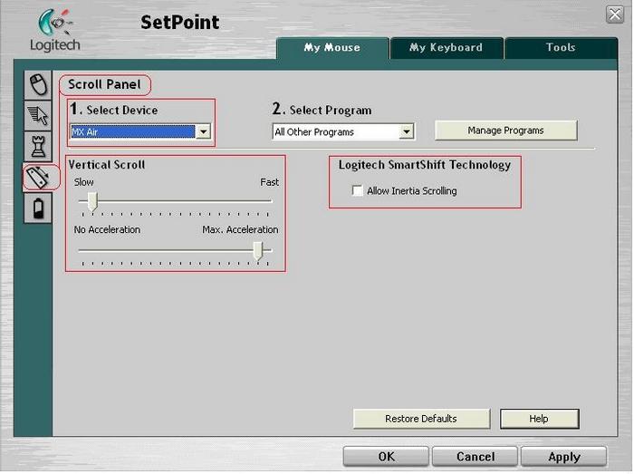 Logitech M-RBP123 Mouse SetPoint Driver