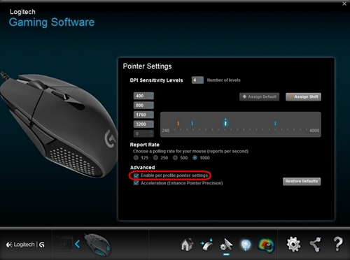 c2963821e83 Setting different DPIs for gaming-mouse profiles using Logitech ...