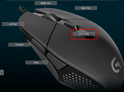 Programming gaming-mouse buttons using Logitech Gaming Software