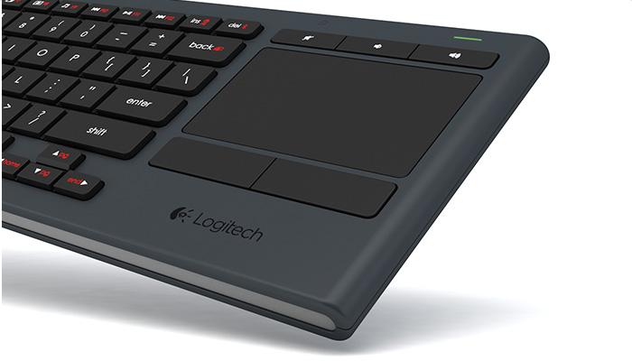 logitech k830 illuminated wireless keyboard for htpcs and media centers. Black Bedroom Furniture Sets. Home Design Ideas