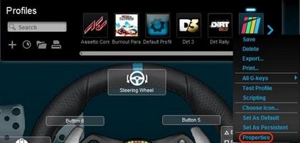 Lock racing wheel profile using Logitech Gaming Software – Logitech