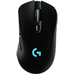 G703 LIGHTSPEED Wireless Gaming Mouse Incredible lag-free wireless responsiveness - Black