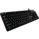 G512 Carbon RGB Mechanical Gaming Keyboard - Tactile Version - Carbon, Romer-G Tactile Switch - UK English (Qwerty)