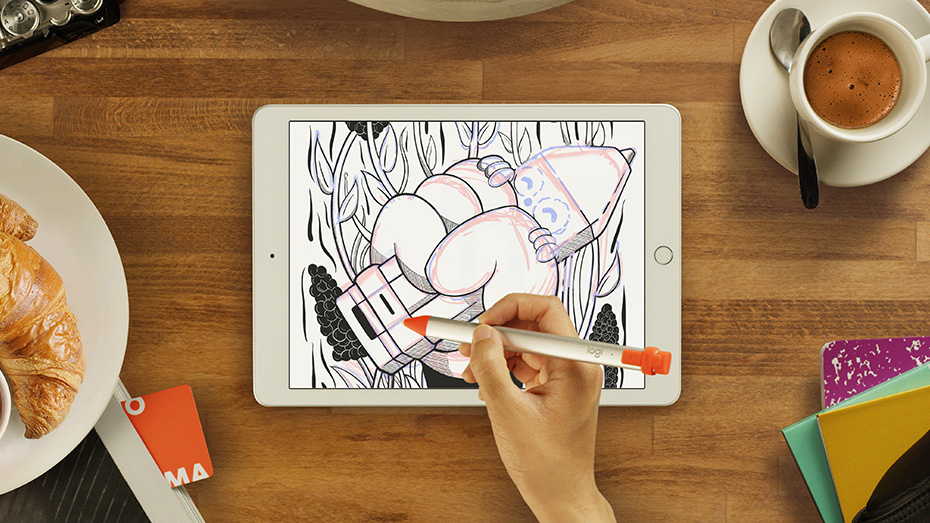 color on the apple iPad with the Crayon