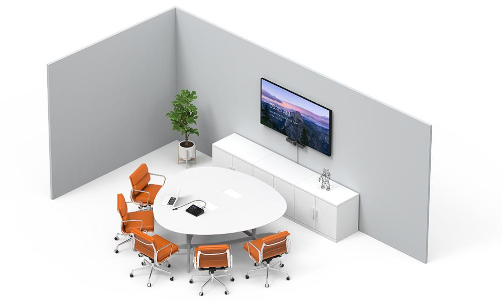 Illustration of small conference room setup