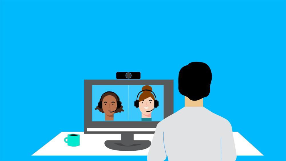 Graphic of video conferencing